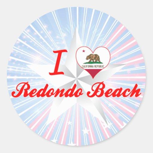 I Love Redondo Beach, California Sticker