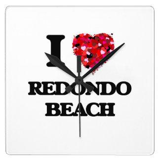 I love Redondo Beach California Wallclocks