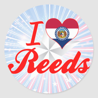 I Love Reeds Missouri Round Sticker