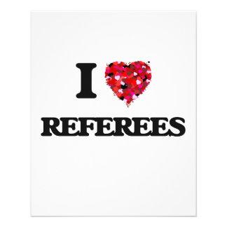 I love Referees 11.5 Cm X 14 Cm Flyer