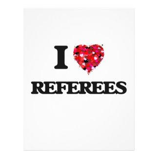 I love Referees 21.5 Cm X 28 Cm Flyer