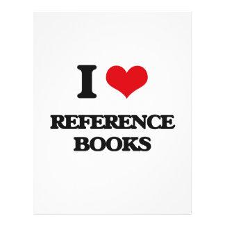 I Love Reference Books Flyer Design