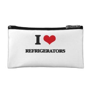 I Love Refrigerators Makeup Bags
