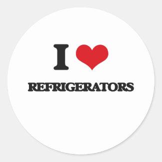 I Love Refrigerators Round Sticker