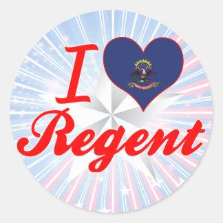 I Love Regent, North Dakota Sticker