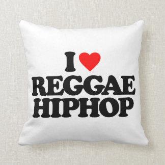 I LOVE REGGAE HIPHOP THROW CUSHIONS