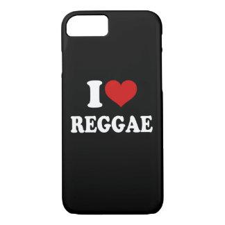 I Love Reggae iPhone 7 Case