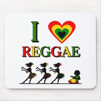 I Love Reggae Mouse Mat