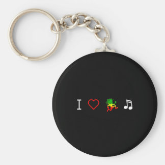 I Love Reggae Music Key Ring