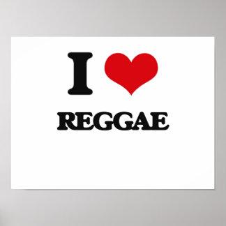 I Love Reggae Poster
