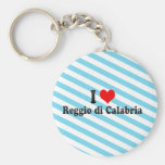 I Love Reggio di Calabria, Italy Basic Round Button Key Ring