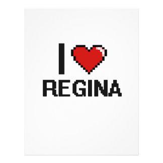 "I Love Regina Digital Retro Design 8.5"" X 11"" Flyer"