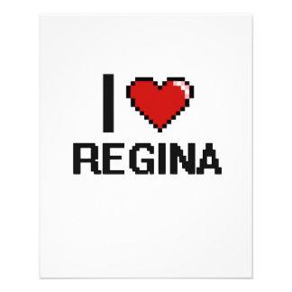 "I Love Regina Digital Retro Design 4.5"" X 5.6"" Flyer"