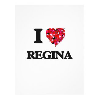 I Love Regina 21.5 Cm X 28 Cm Flyer