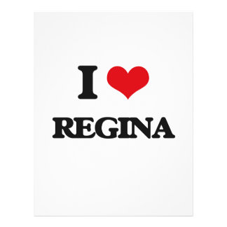 "I Love Regina 8.5"" X 11"" Flyer"