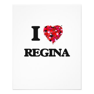 I Love Regina 11.5 Cm X 14 Cm Flyer