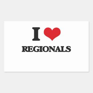 I Love Regionals Rectangular Sticker