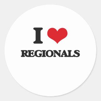 I Love Regionals Round Sticker