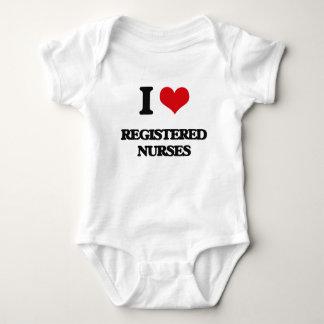 I Love Registered Nurses Baby Bodysuit