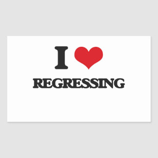 I Love Regressing Rectangular Sticker