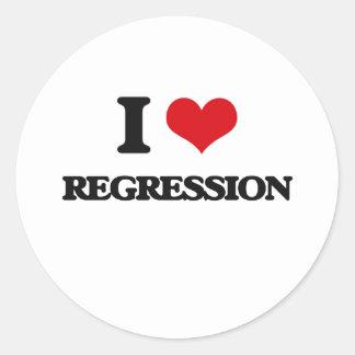 I Love Regression Round Sticker