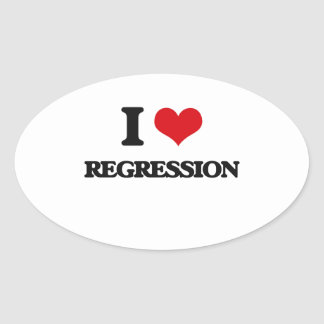 I Love Regression Oval Sticker