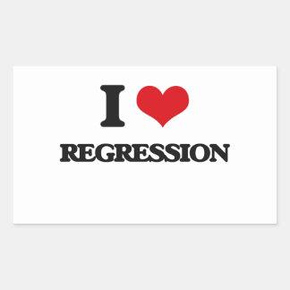 I Love Regression Rectangular Sticker