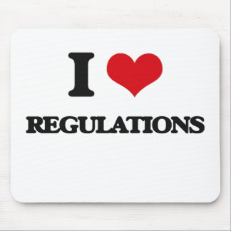 I Love Regulations Mouse Pads