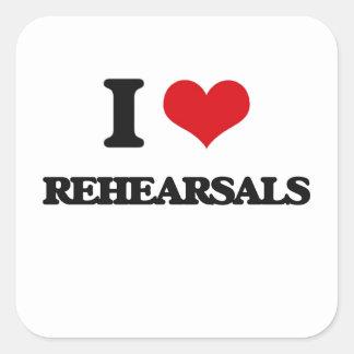 I Love Rehearsals Square Sticker