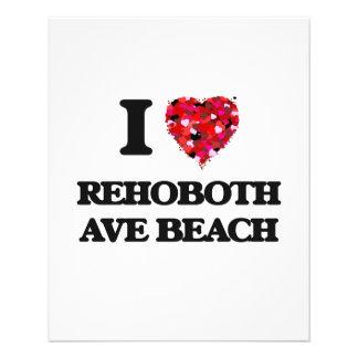 I love Rehoboth Ave Beach Delaware 11.5 Cm X 14 Cm Flyer