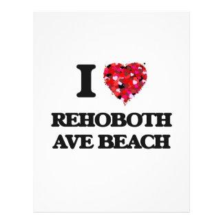 I love Rehoboth Ave Beach Delaware 21.5 Cm X 28 Cm Flyer
