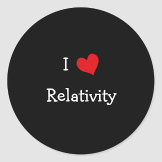 I Love Relativity Classic Round Sticker