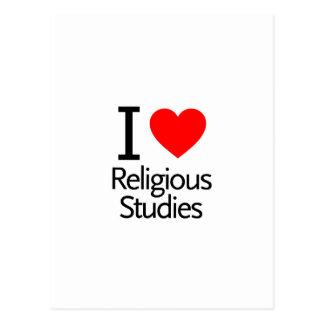I Love Religious Studies Postcard