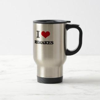I Love Remakes Stainless Steel Travel Mug