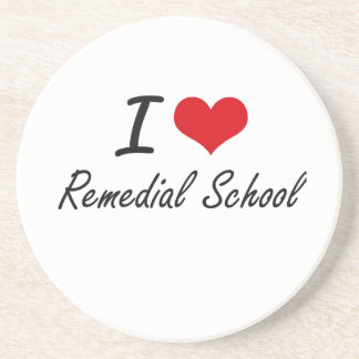 I Love Remedial School Coasters