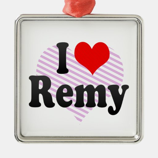 I love Remy Christmas Ornament