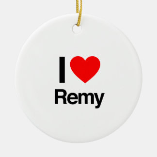 i love remy round ceramic decoration