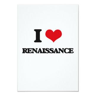 "I Love Renaissance 3.5"" X 5"" Invitation Card"