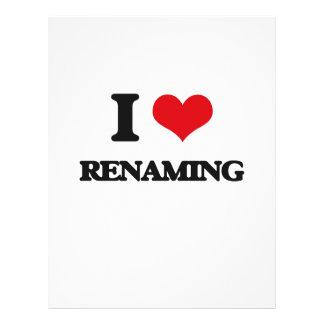 I Love Renaming 21.5 Cm X 28 Cm Flyer