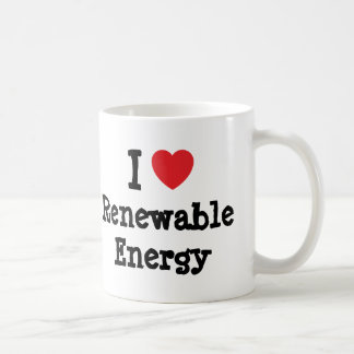 I love Renewable Energy heart custom personalized Mugs