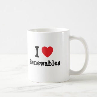 I love Renewables heart custom personalized Mugs