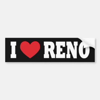 I Love Reno Bumper Sticker