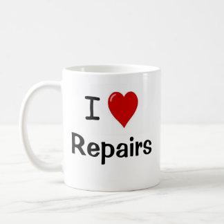 I Love Repairs I Love Maintenacce Handy Man 2-side Basic White Mug