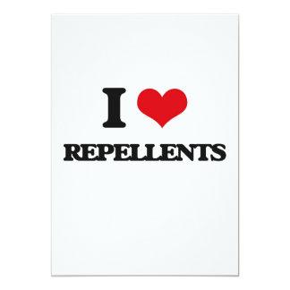 I Love Repellents 13 Cm X 18 Cm Invitation Card