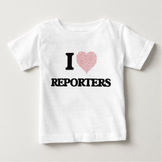 I love Reporters (Heart made from words) Shirts
