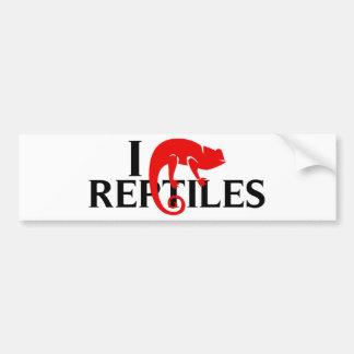 I Love Reptiles Bumper Sticker