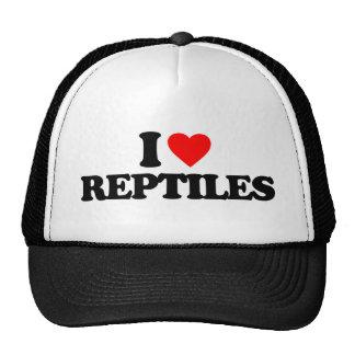 I LOVE REPTILES MESH HATS