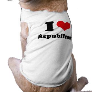 I LOVE REPUBLICANS DOG T SHIRT