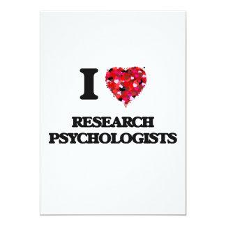 I love Research Psychologists 13 Cm X 18 Cm Invitation Card