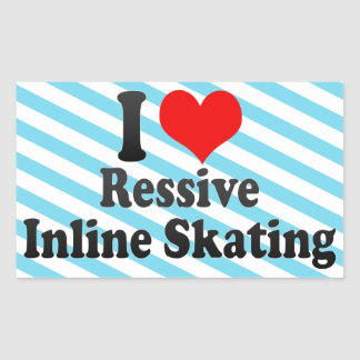 I love Ressive Inline Skating Rectangle Sticker